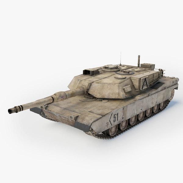 abrams a1 main battle tank obj