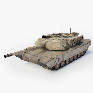 abrams a1 main battle tank obj