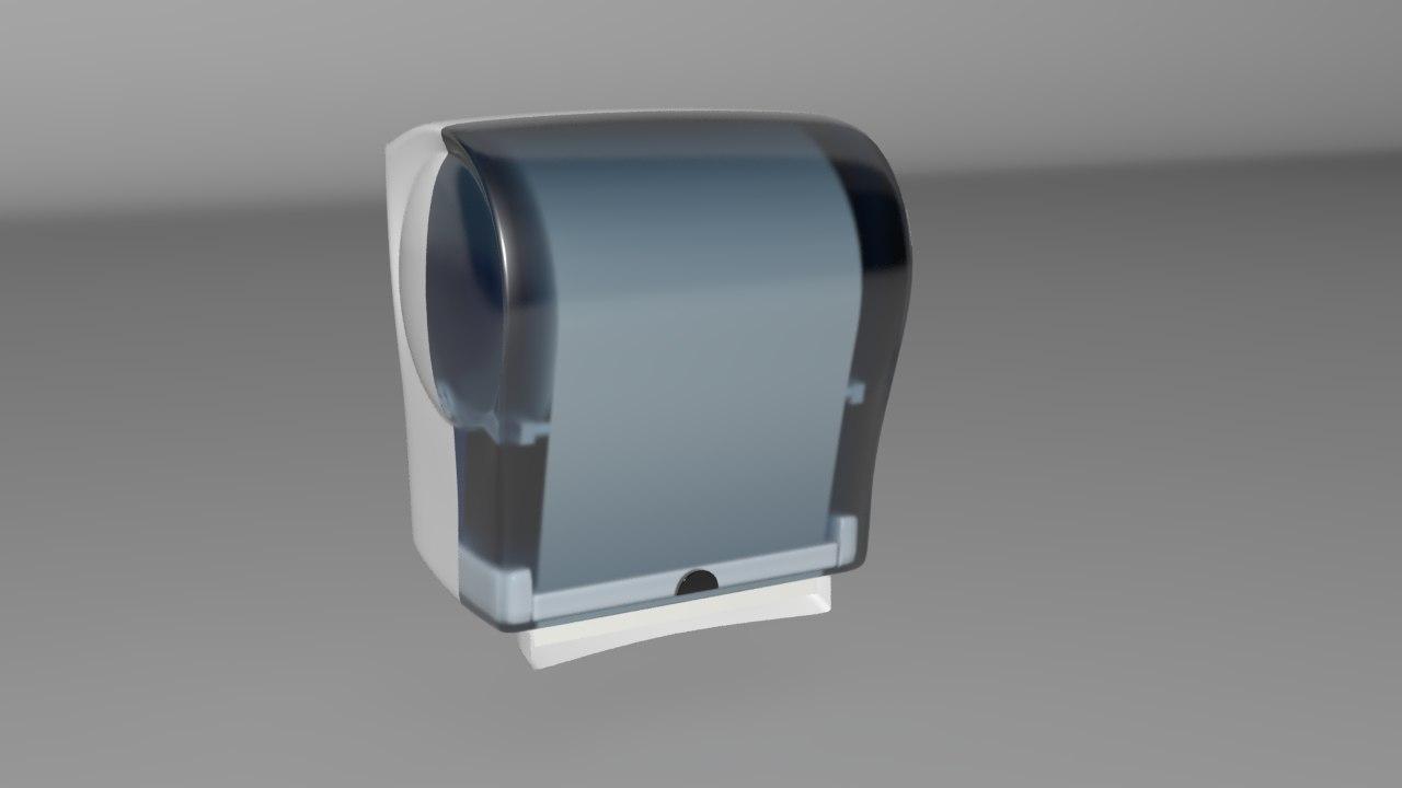 automatic paper towel dispenser 3d obj