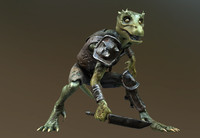 Kobold Lizard rigged for next gen games