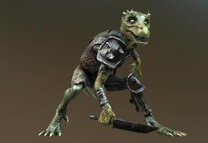 3d kobold lizard gen games model