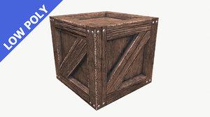 3d model box wood ready