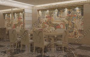 3d model dinning pharaonic