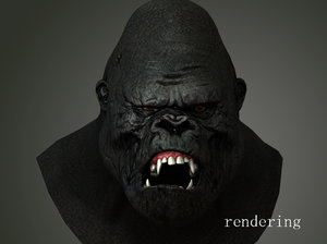 orangutans head portrait animation ma
