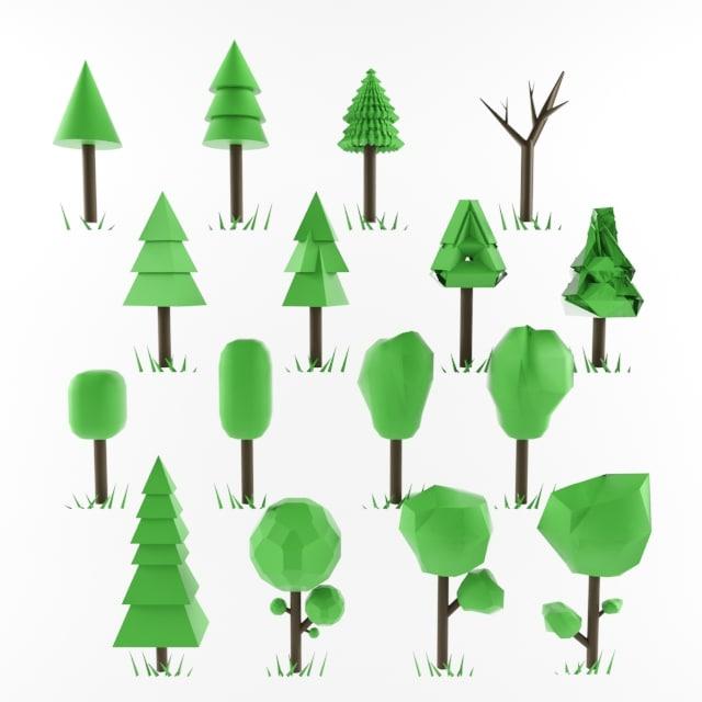 3d tree ready use model
