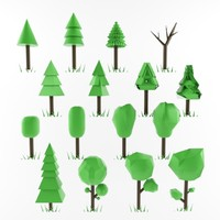 3d tree ready use model