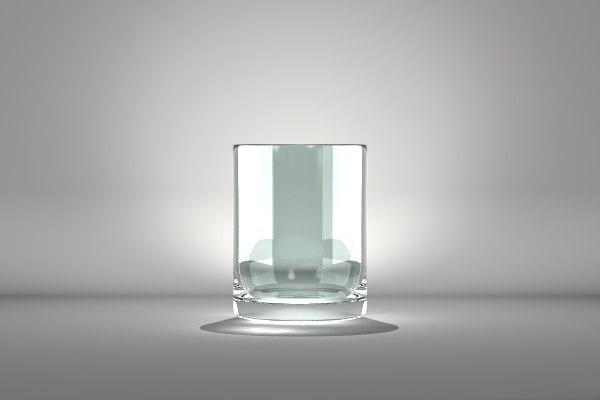 obj cylinder glass vase