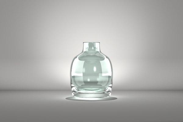 glass vase 2 3d lwo