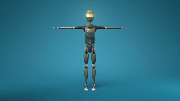 free ma model sci-fi male robot rig