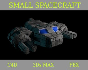 small spacecraft space 3d model