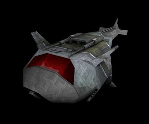 3d model small black spacecraft
