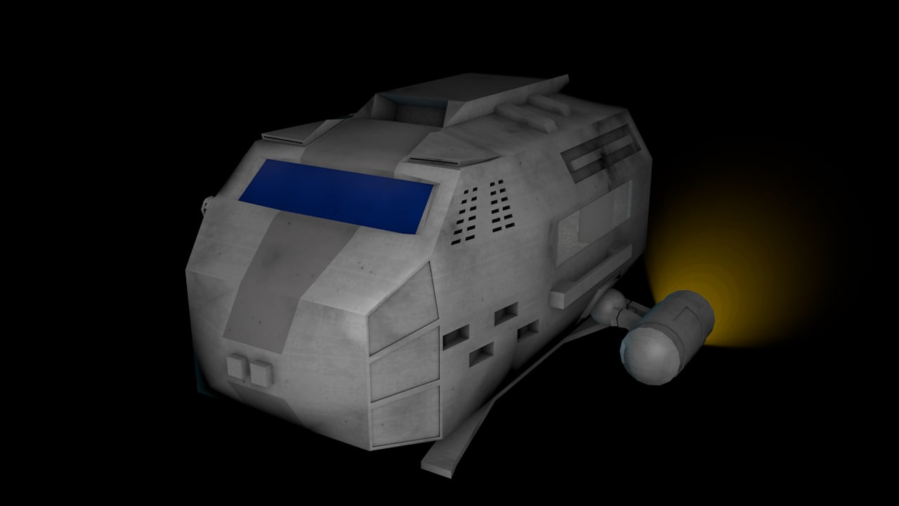 3d c4d spacecraft transport space