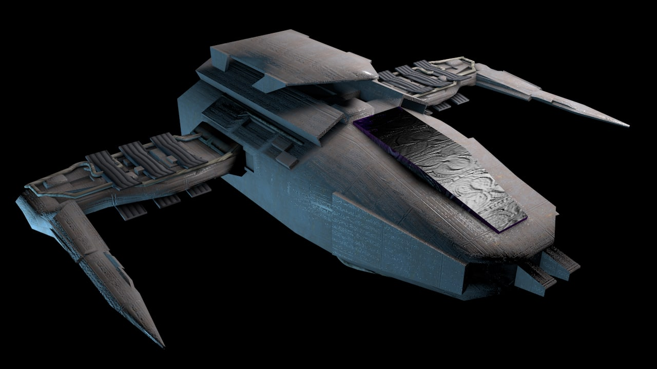 free spacecraft fighter 3d model