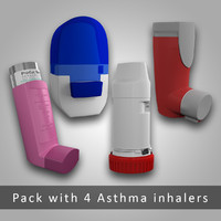 Asthma inhaler Pack (4 devices)