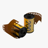3d model 35mm film roll