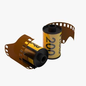 3d model 35mm film roll