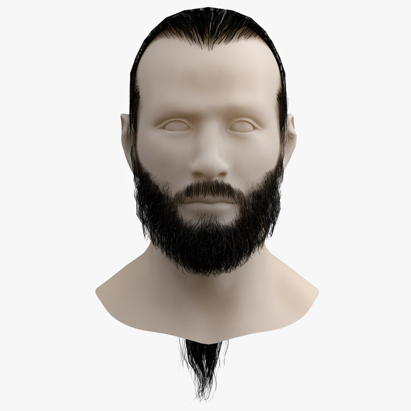 3ds max moustaches beard hair tail