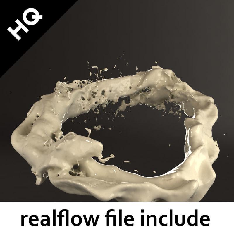 3d splash realflow flow model