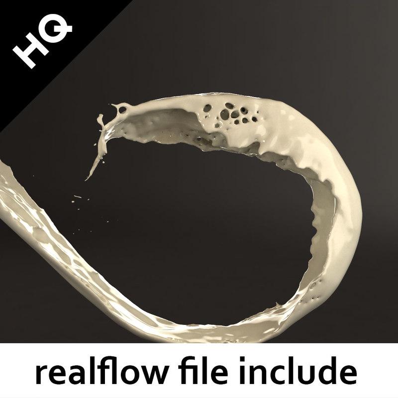 splash realflow flow 3d max