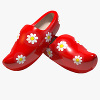 wooden shoes 3d max