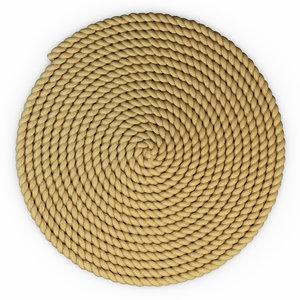 3d max jute rope mat