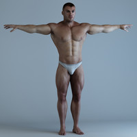 body bodybuilder man 3d model