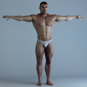 body bodybuilder man 3d model