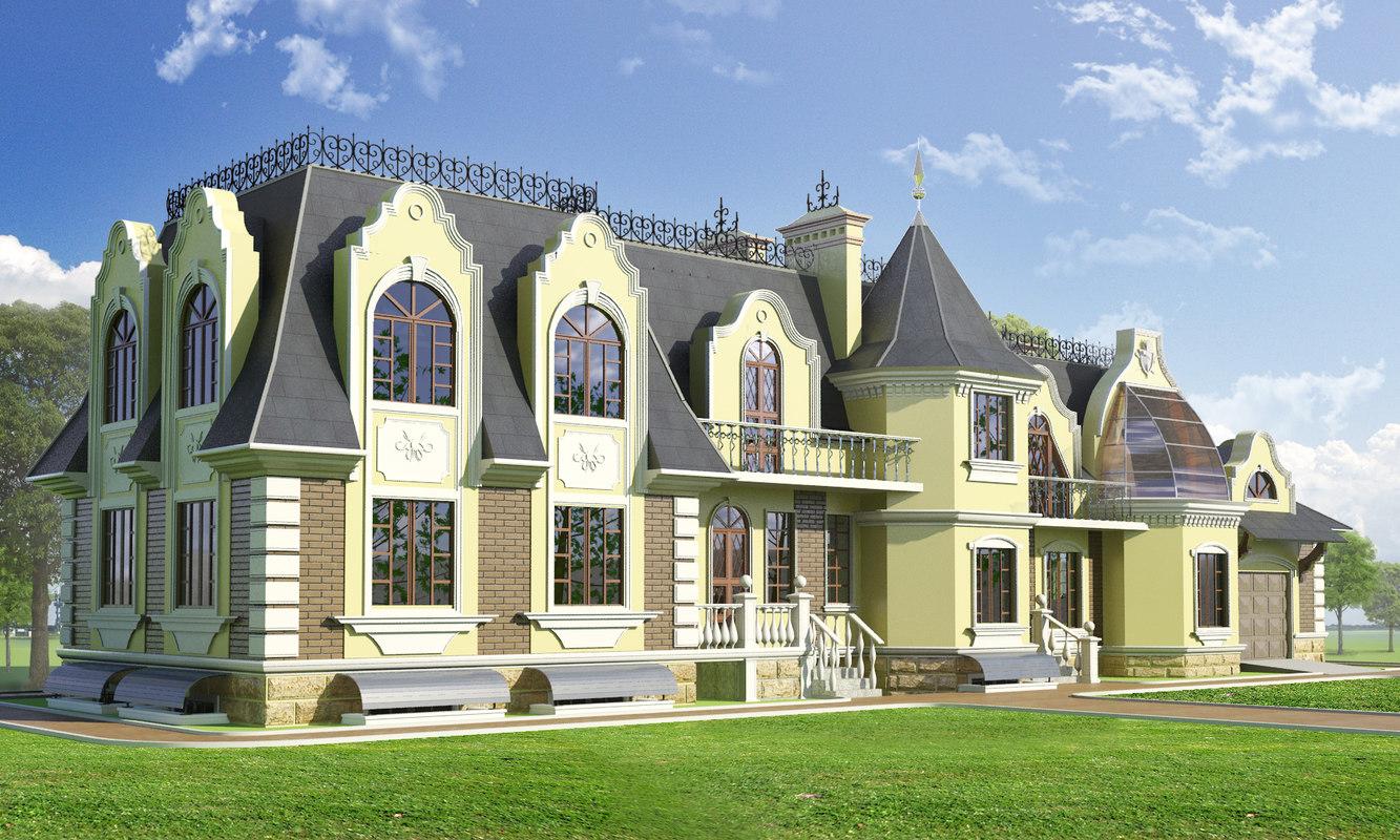3d model house baroque