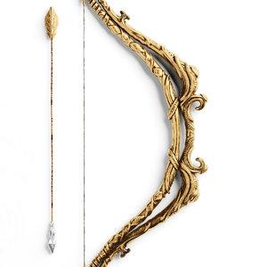 bow arjuna ancient gandiva 3d max