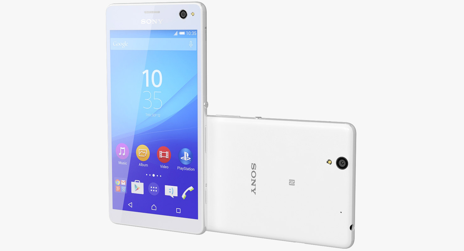 3d model of realistic sony xperia c4