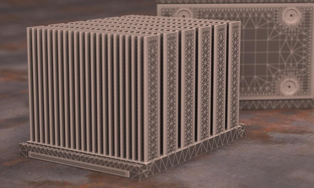 3d model hp xw8200 cpu heatsink