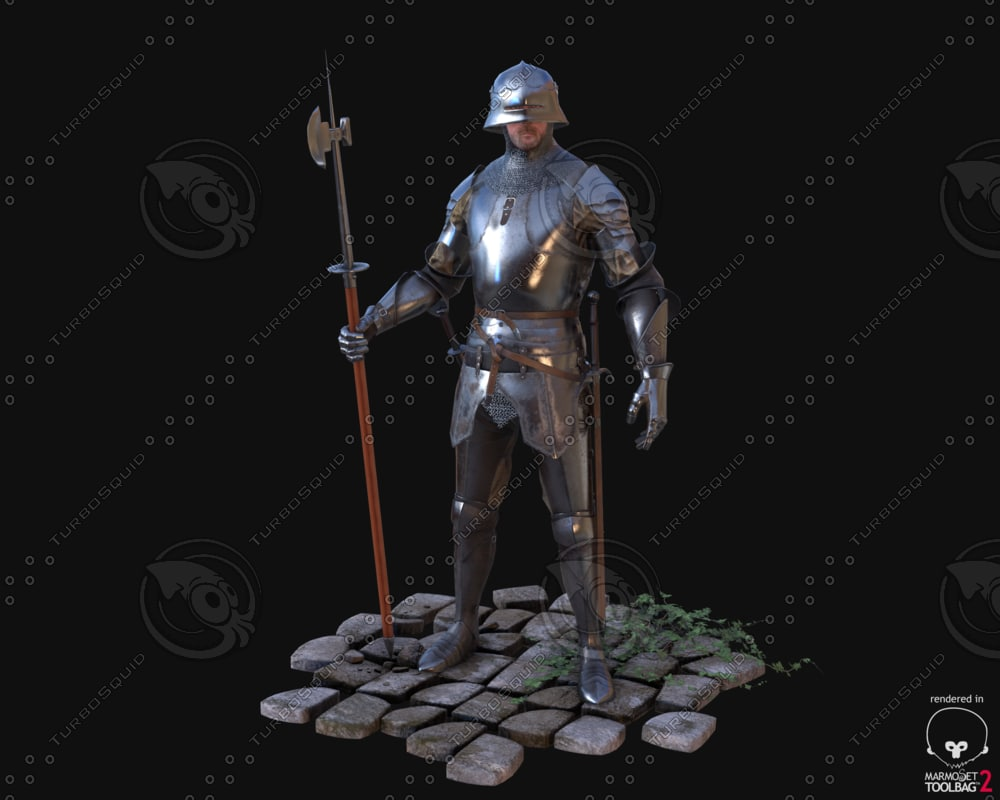 3d model medieval knight