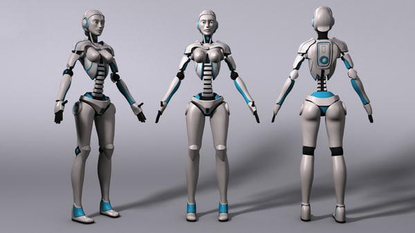 free ma model sci-fi robot rig