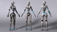 free ma model sci-fi robot rig