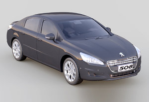 3d peugeot 508 model