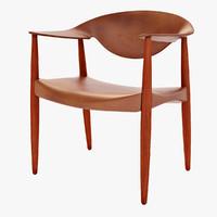 lm92 metropolitan chair 3d model
