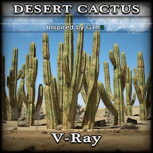3d desert cactus
