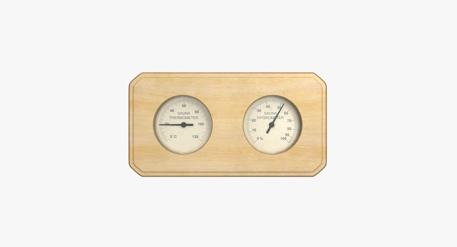 3d model sauna hygrometer