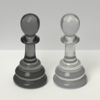 3d model chess pawns