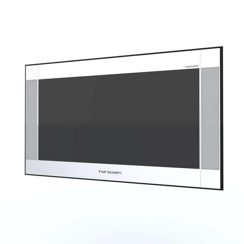 3ds max flat screen