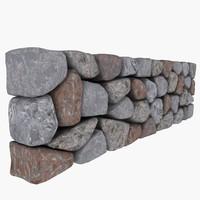 stone wall 3d model