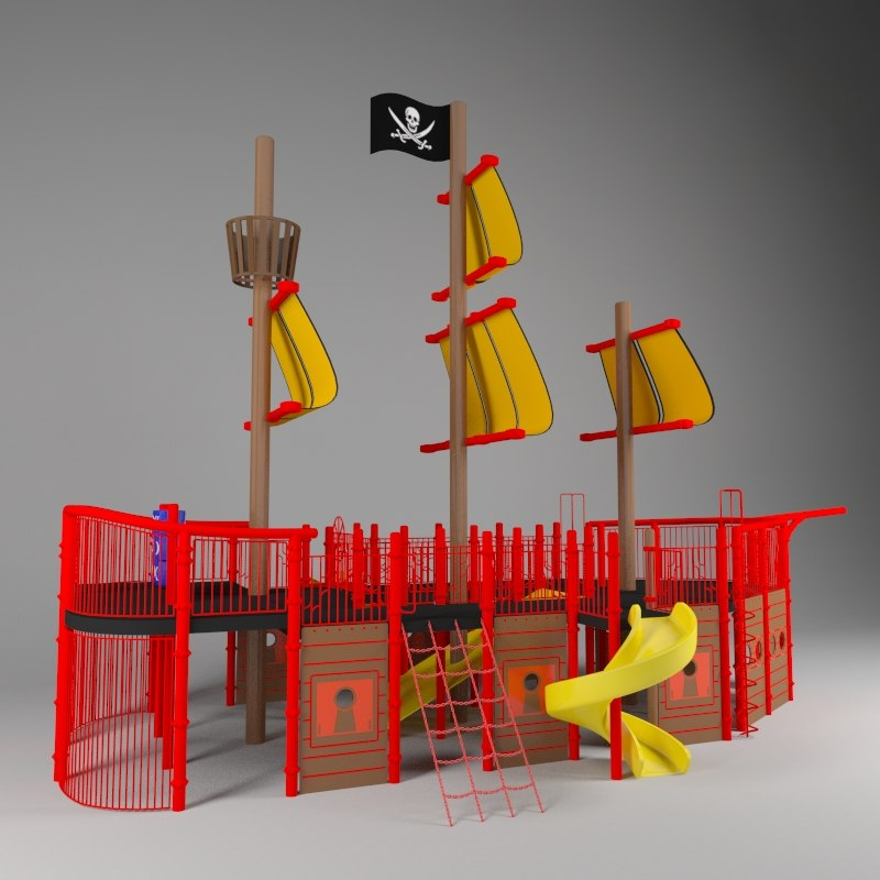 max pirate ship kids playground