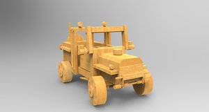 wooden toy jeep max