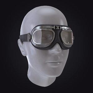motorcycle pilot glasses 3d obj