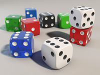 3d dice set plastic