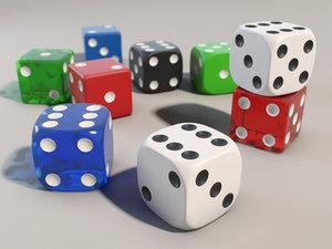 3d dice set plastic
