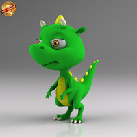 cartoon dinosaur baby 3d obj