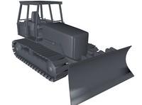 3d bulldozer model