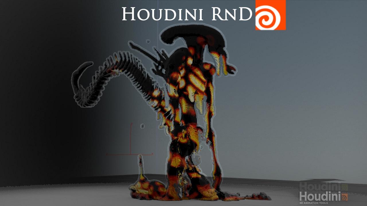 houdini 14 - melting 3ds