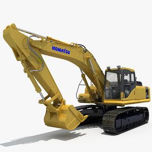 excavator komatsu pc360 3d model